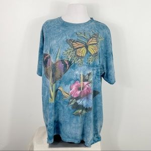 The Mountain Tie Dye Butterfly Graphic Tee Shirt
